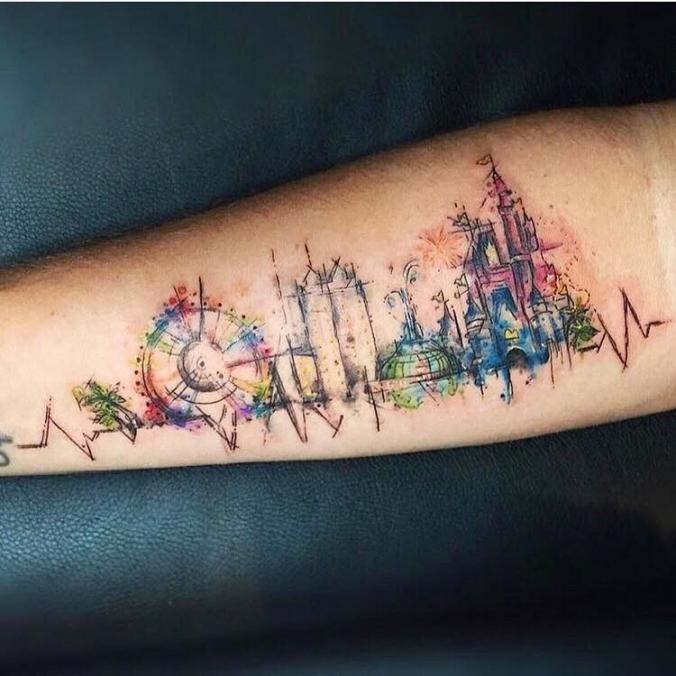 Abstract Disney Tattoo